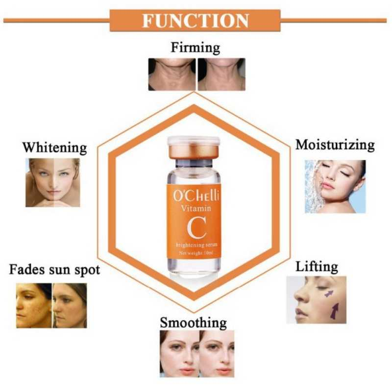 Vitamin C Brightening Serum Improving Facial Sagging  Whitening And Anti-Aging Fade Spots Removing Freckle  Moisturizing