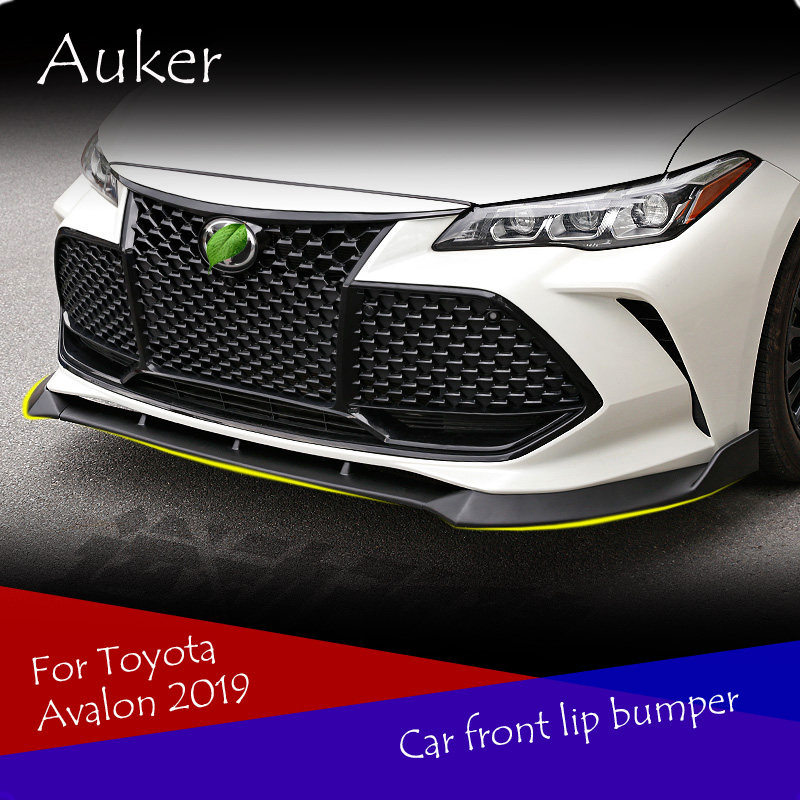 Car Front Lip Chin Bumper Body Kits Rotation Angle Car Styling 3Pcs/Set For Toyota Avalon 2019