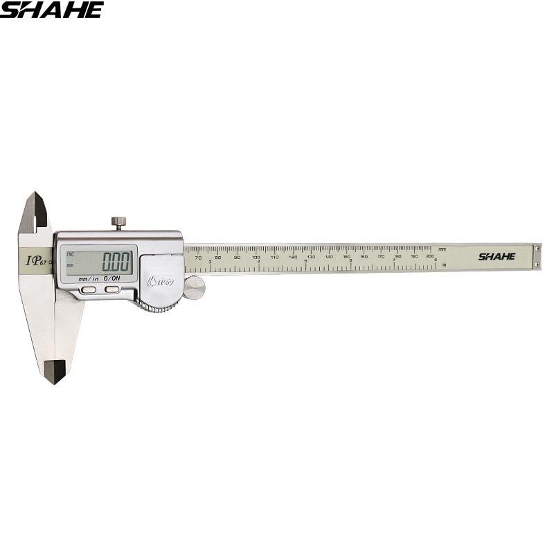 SHAHE digital vernier caliper IP67 200mm 8 Digital caliper steel vernier caliper electronic calibre digital