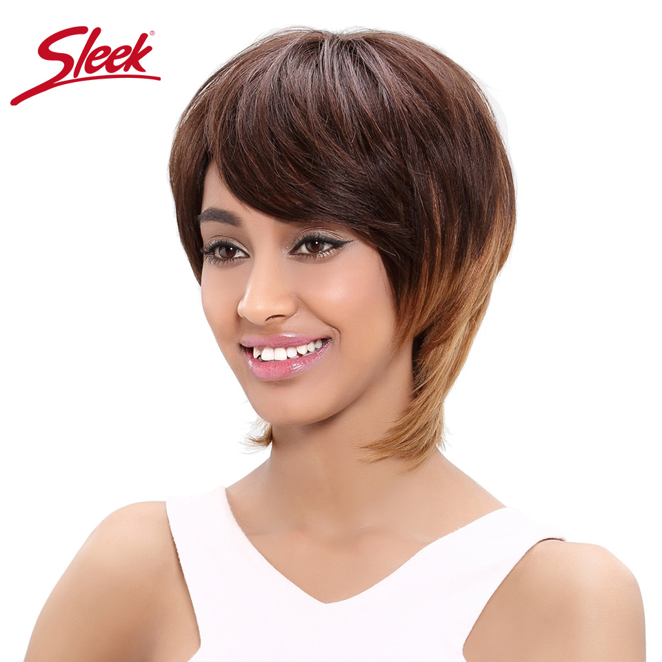 Hot Sale Sleek Brazilian Straight Hair Short Straight Remy Human