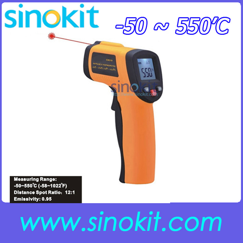 -50 ~ 550'C (-58~1022'F) User Industry Infrared thermometer SK550 [randomtext category=