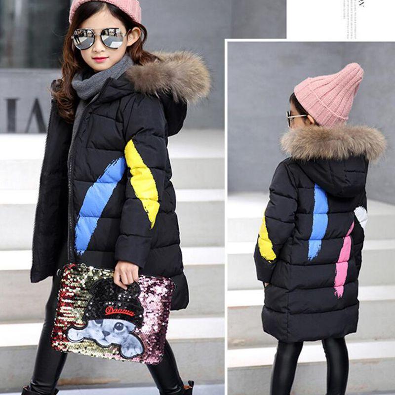 Aliexpress.com : Buy 2017 Warm Thick Winter Jackets Girls Kids Fur ...