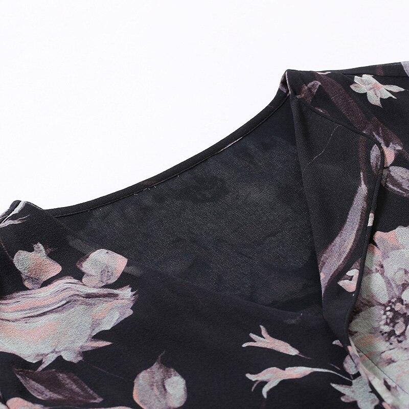 100% размера плюс шелковая блузка Женский Топ простой дизайн круглый вырез рукава Свободный Топ Новая Мода Высокое качество шелковые блузки 2019 - 5