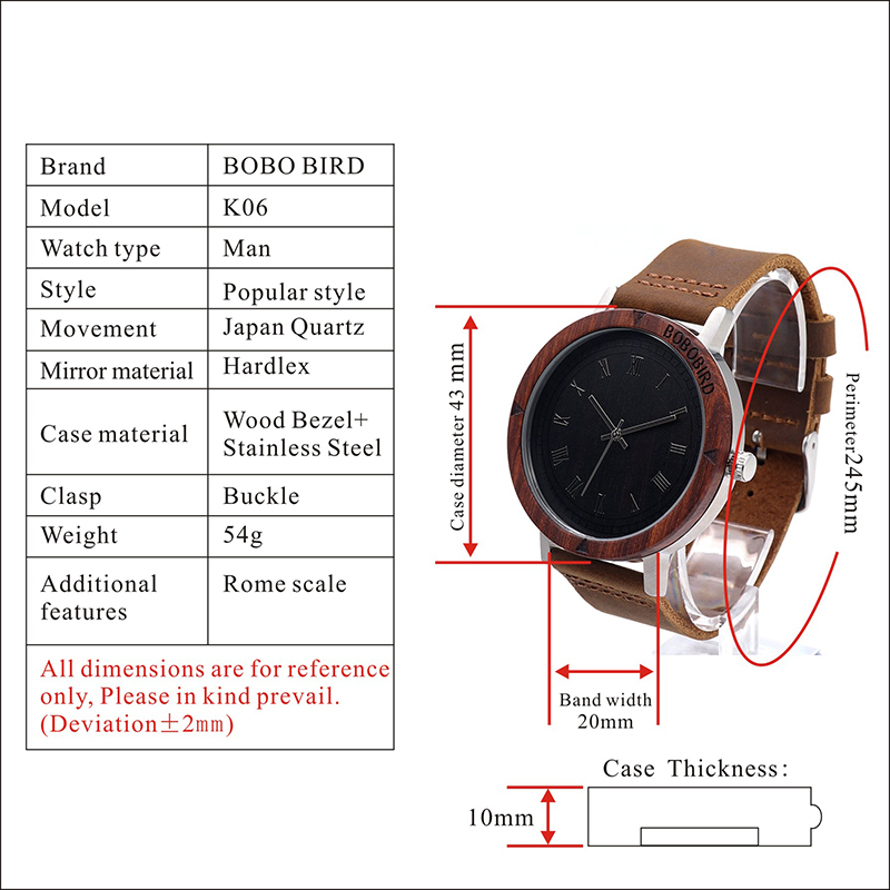 Wood Watch for Watches for Men and Women relogio masculino GiftsK06