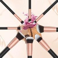 11 Pcs Set Makeup Brushes Face Eyeliner Contour Foundation Powder Liquid Cream Cosmetic Brush Tools With