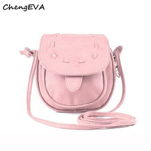 ChengEVA 1PC Lovely Cute Girl Pu Leather Mini Small Adjustable Shoulder Bag Handbag Fashion Brand Hot Sale Attractive Nov 17