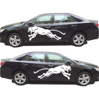 Creative Wild Running Panther Hunting Car Body Decal Car Stickers Decoration Stickers For Toyota Camry Auto