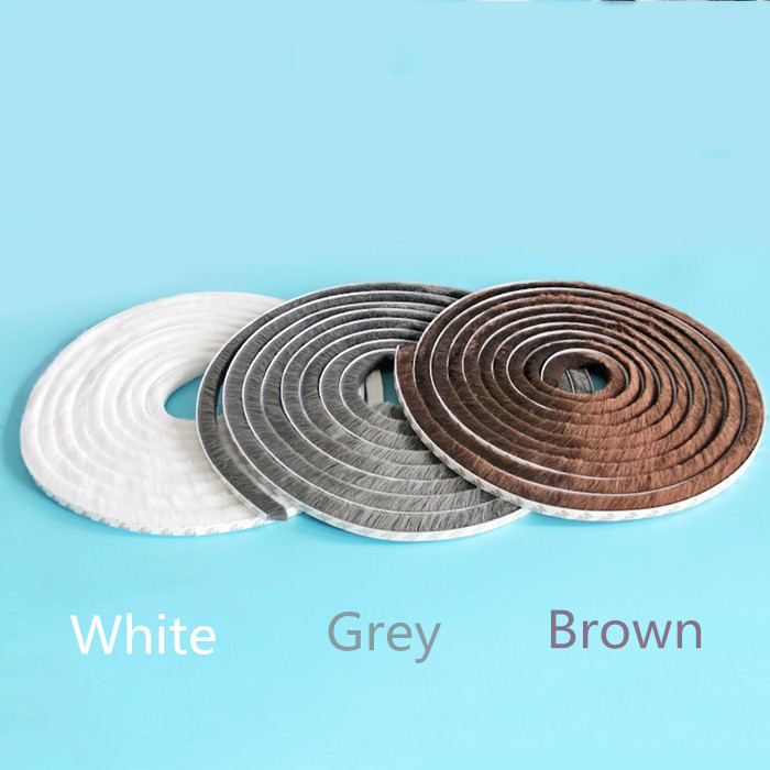9x5mm 20meter White/Gray/Brown Door Window Draught Excluder Brush Weather Strip Seal Tape 3M Gum Burlete Foam DHL TO Canada.9x5mm 20meter White/Gray/Brown Door Window Draught Excluder Brush Weather Strip Seal Tape 3M Gum Burlete Foam DHL TO Canada.