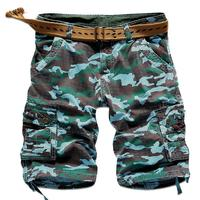 New 2017 Summer Outdoor Sport Army Hiking Camping Climbing Cotton Cargo Camouflage Overalls Tooling Military Training Shorts men