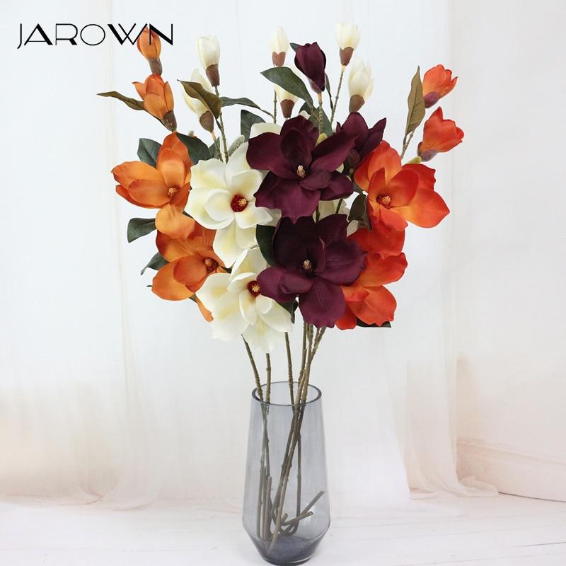 Acheter JAROWN Artificielle Orchidée Fleur Simulation Soie Magnolia Fleur Pour la Décoration De Mariage Accueil Parti Décoration Accessoire de Artificielle et Fleurs Séchées fiable fournisseurs