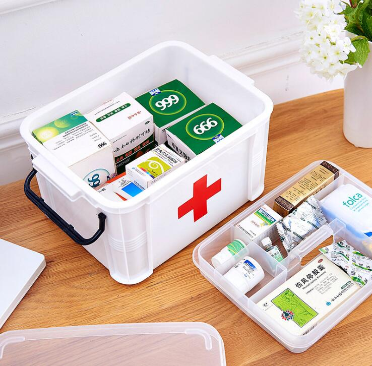 Family large medicine box multi-layer medical emergency medicine storage box household plastic children small medicine box out o джинсы medicine medicine me024ewuad55