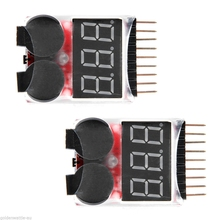1 8S LED Lipo font b Battery b font Low Voltage Buzzer Alarm Indicator Monitor Checker