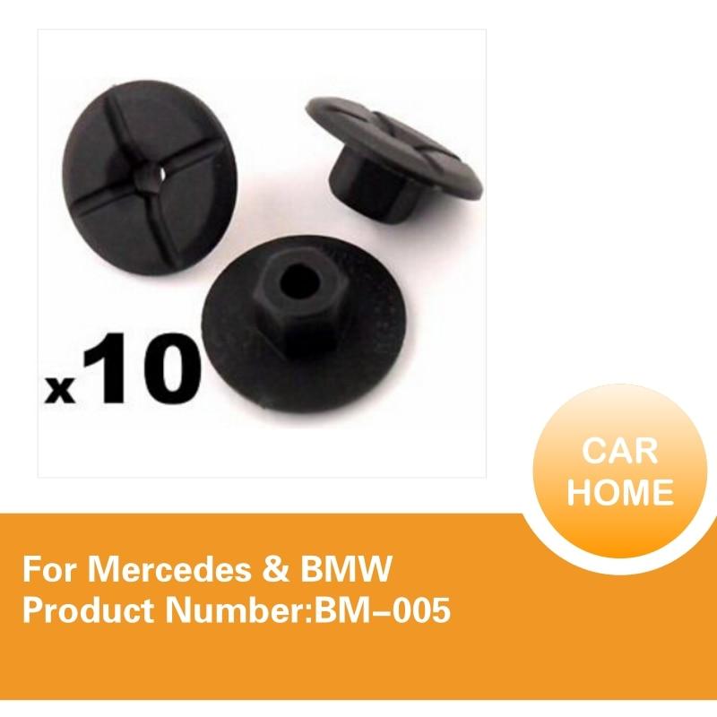 BMW 4mm hole 24mm collar for Mercedes 10X Plastic Unthreaded Nylon Nuts