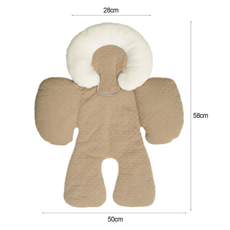 Baby-Stroller-Cushion-Car-Seat-Pad-Mat-Infant-Car-Pillow-Head-Body-Support-Carriage-Dual-Sided