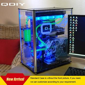 QDIY PC-A009  ATX Transparent Computer Case PC Case Water Cooled Acrylic Computer Case