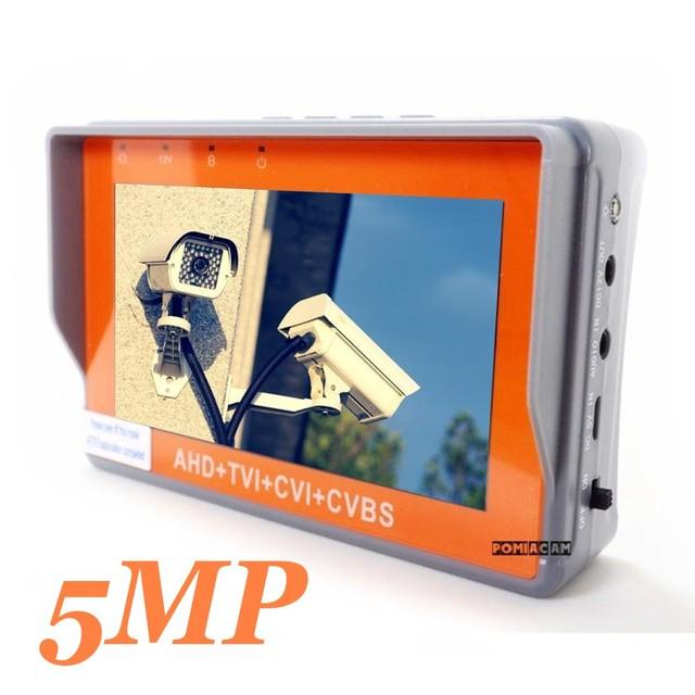 ポータブル4で1 ahd cvi tvi cvbsカメラテスターIV7W 4.3インチ液晶5mp cctvテスターモニターサポートptzコントローラutpケーブルテスト