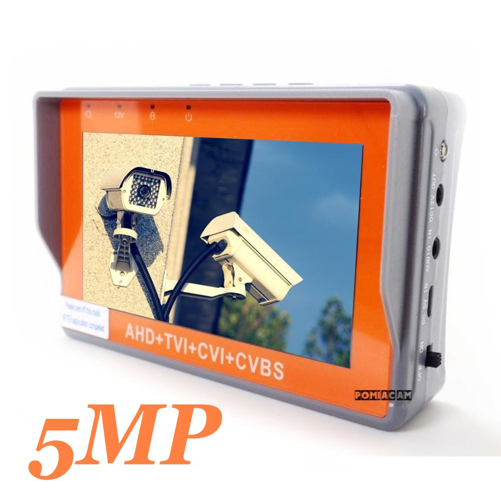 Portable 4 EN 1 AHD CVI TVI CVBS Testeur de Caméra IV7W 4.3 pouce LCD 5MP Moniteur de Testeur de VIDÉOSURVEILLANCE Soutien PTZ contrôleur UTP câble test