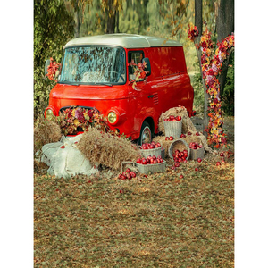 Image 3 - Allenjoy photography Autumn backdrop Car grass red countryside baby shower children background photo studio photocall photophone