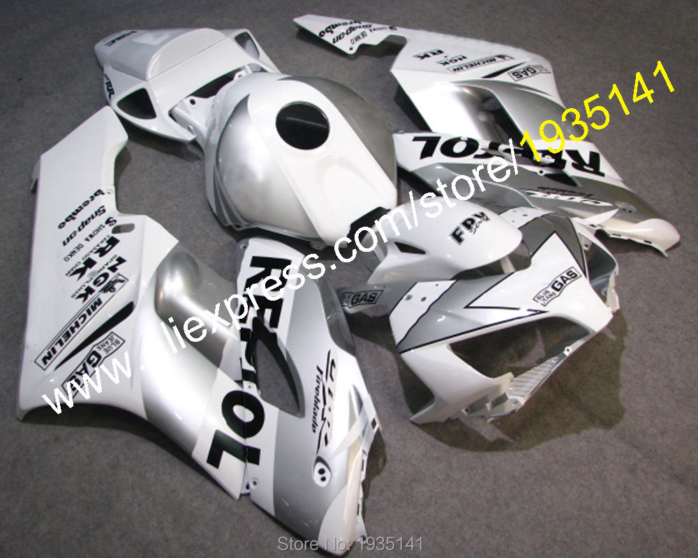 Hot Sales, For Honda  2004 2005 Kit CBR1000RR CBR 1000RR CBR1000 04 05 Popular Silver motorcycle Fairing Set (Injection molding) neo chrome rear lower control arm lca for honda civic 2001 2005 e2c