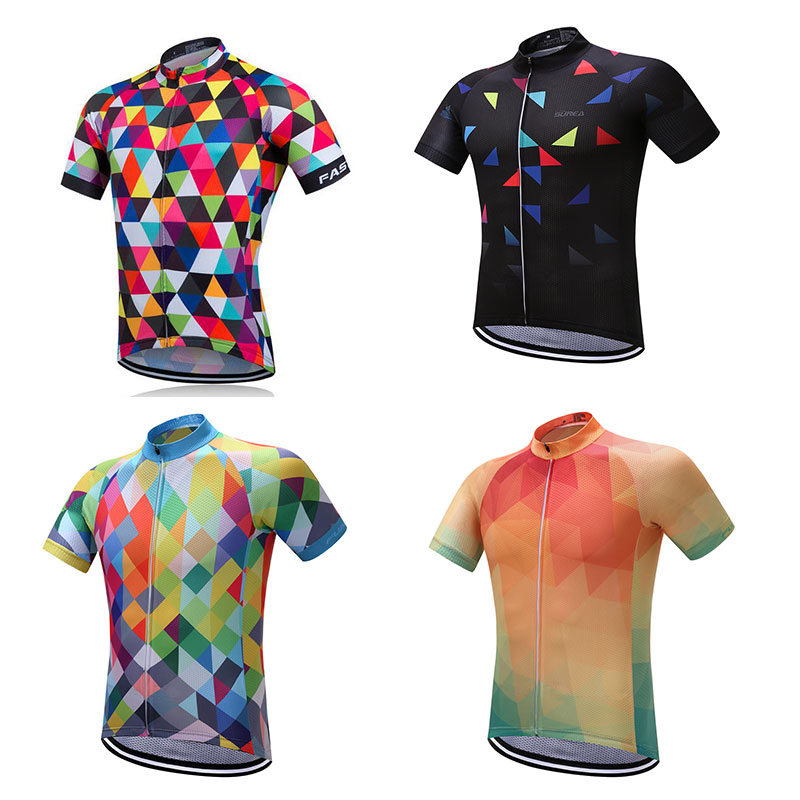 Short Sleeve Cycling Jersey Roupa Ciclismo Bike Wear Cycling Jerseys Ciclismo Breathable Man Bicycle Cycling Clothing 17 styles