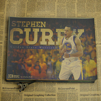 Figure NBA basketball star Stephen curry poster warriors retro photo wall stickers decorative painting paper 4