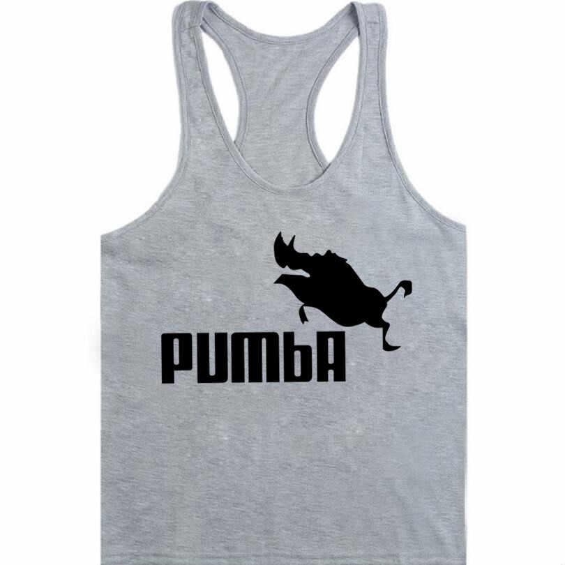 f6d94fb9364d2 Funny tee cute Tank Top homme Pumba men women cotton cool vest lovely  kawaii summer jersey