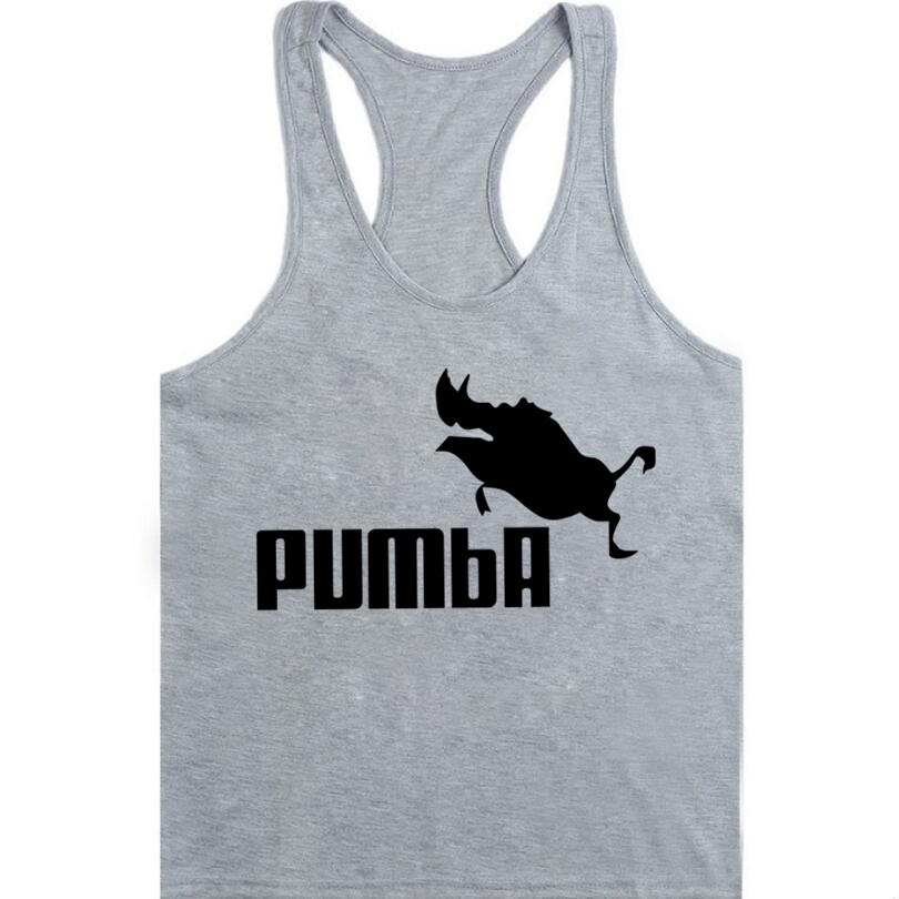 Funny tee cute   Tank     Top   homme Pumba men women cotton cool vest lovely kawaii summer jersey costume Bodybuilding   Tops