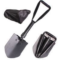 Self Defense Personal Security Folding Shovel Army Shovel Survival Shovel Multifunction Camping Spade With Serrated Blade