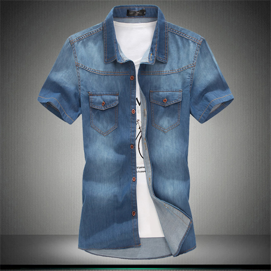 Hot Sale New Summer Time Casual Wear Men Jeans Shirts ...