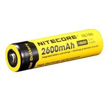 Nitecore Batería de ion de litio recargable para linterna LED, NL1826, Original, 2600mAh, 18650, 3,7 V, Max, 2A, 18650