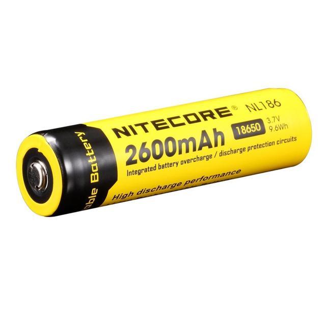 Original Nitecore NL1826 2600mAh 18650 3.7V Max 2A 18650 Rechargeable Li ion battery (NL186) for LED Flashlight