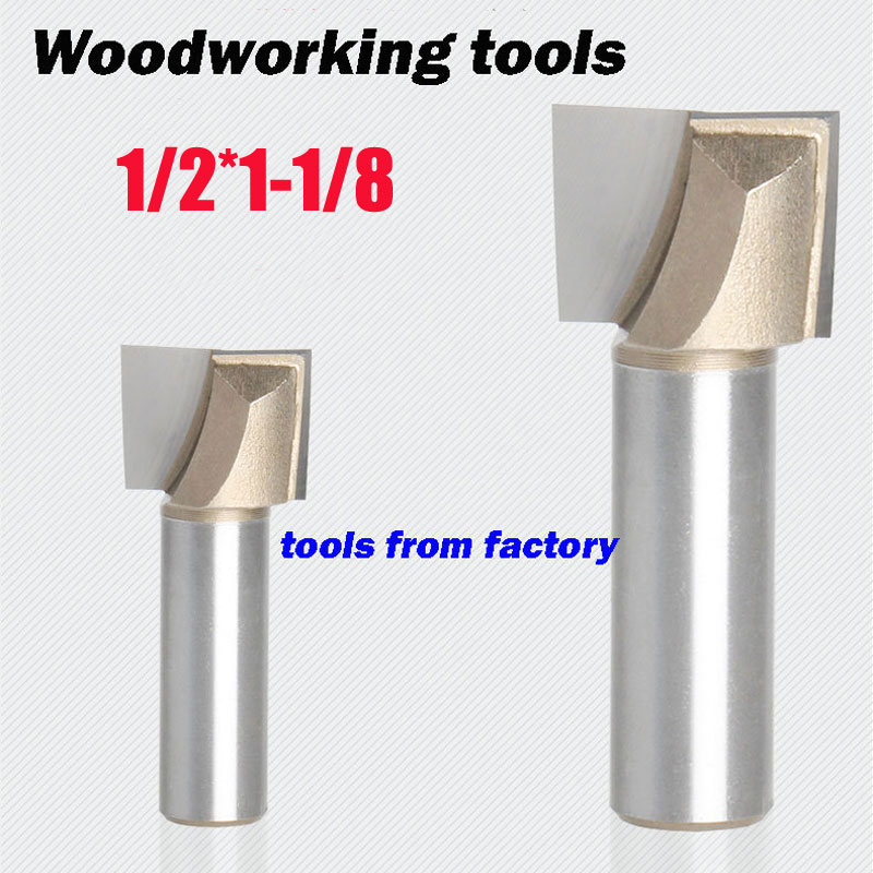 1pc wooden router bits 1/2*1-1/8 CNC woodworking milling cutter woodwork carving tool free shipping 10pcs 6x25mm one flute spiral cutter cnc router bits engraving tool bits cutting tools wood router bits