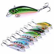 Submerged Minnow bait 4.7cm/3.7g fishing flies isca artificial sinking water outdoor 3D bionic eye plastic Hard Lure The false