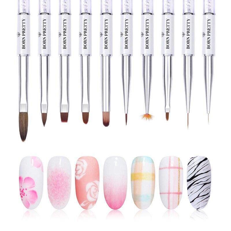 BORN PRETTY Nail Art Brush Painting Lining Drawing Pen Brush For UV Gel Polish DIY  Design Tool