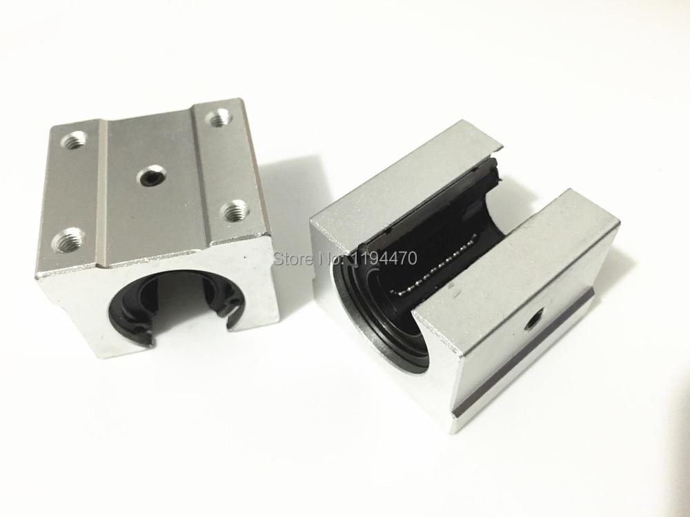 8pcs/Lot SBR10UU Linear Bearing 10mm Open Block Linear Motion Bearing Slide CNC Router Linear Slide silver open roller bearing slide block