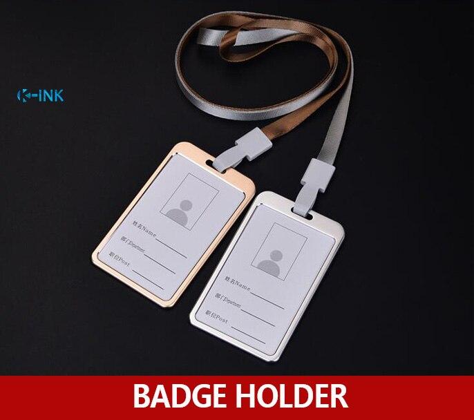 Aluminum Alloy ID Badge Holder , Metal ID Badge Holder With Lanyards , Premium Quality