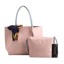 2 stücke Frauen Composite-taschen Einfarbig Damen Frauen Leder Handtasche Einfache Große Kapazität Handtasche Schulter Crossbody Tasche Set