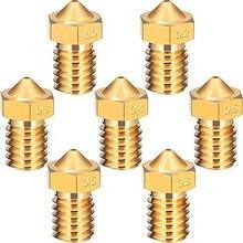 New 1pcs 3D Printer Parts V5 V6 M6 threaded Nozzle 0.2 0.25 0.3 0.4 0.5 0.6 0.8 1.0mm for 1.75mm 3.0mm filamnet Full Metal E3D