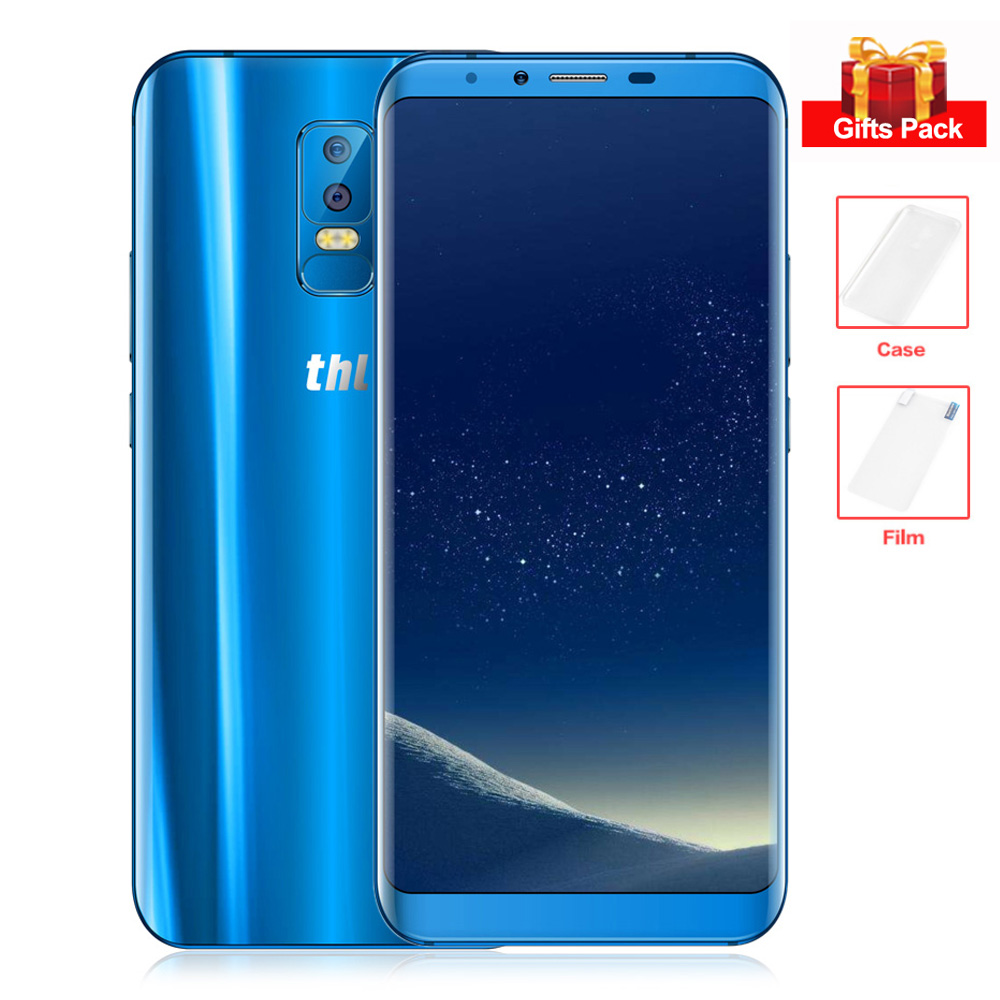 THL Knight 2 Android 7.0 Wireless Charge 6.0'' 18:9 Octa Core 4GB+64GB 13MP MT6750 Dual Rear Cams Fingerprint 4G Mobile Phone