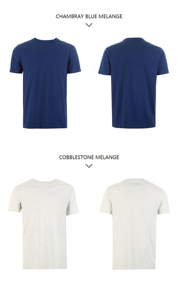 Men's Summer 100% Cotton Pure Color Round Neckline Short-sleeved T-shirt 74