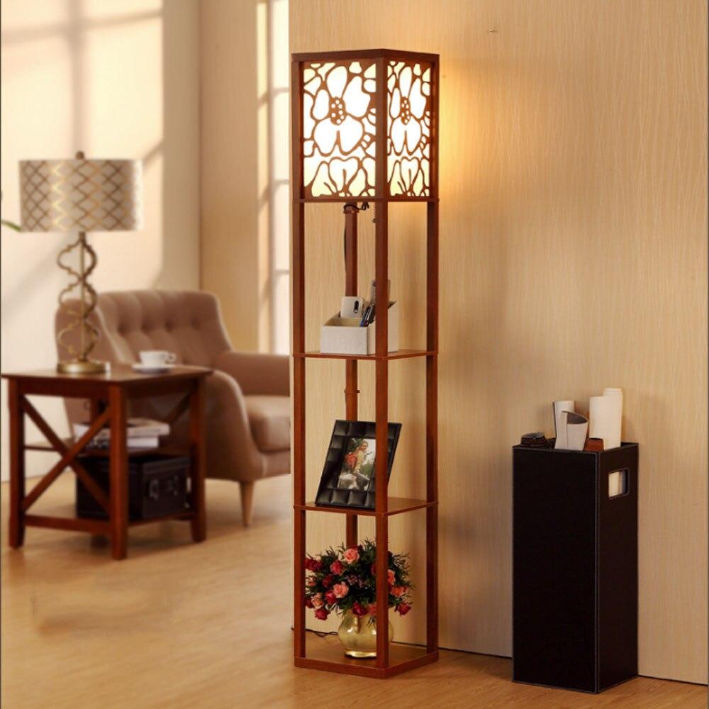 Online buy wholesale wooden floor lamps from china wooden for Oriental wood floor lamp