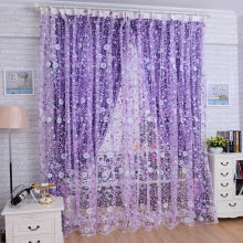 Print Floral Voile Door Curtain Window Room Curtain Divider Scarf roller blinds x30413(China)