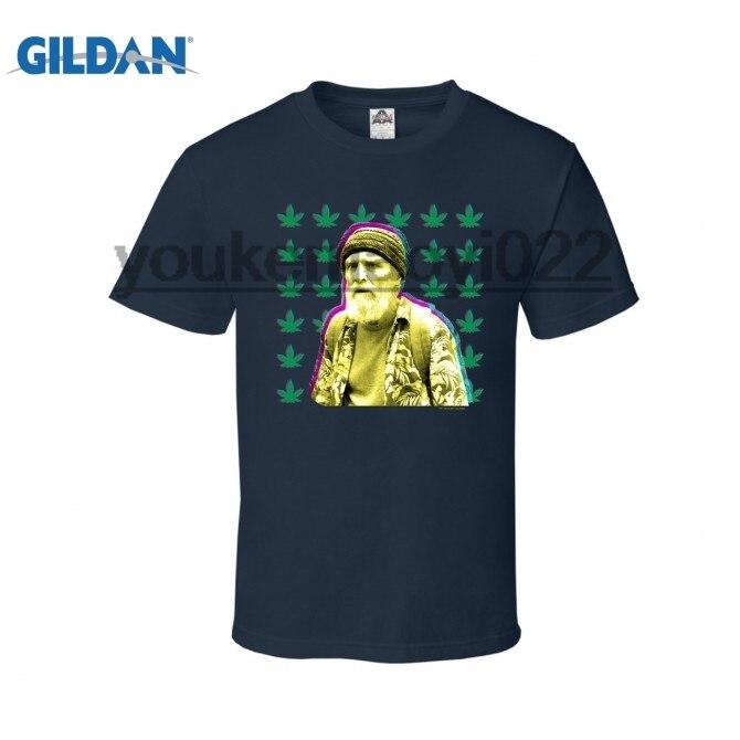 GILDAN TWIN PEAKS JERRY LEAF T-SHIRT (BLUE)