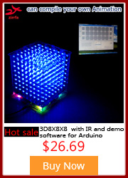 luzes cubeed, led eletrônico diy kit