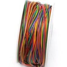 Один Рулон 8 Цветов 30AWG Провода Упаковка Провод, луженая Медь Твердых, изоляция ИЗ ПВХ