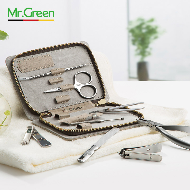 Image 3 - MR.GREEN 8 in one grooming kit Nail clipper set toe finger scissors set stainless steel nail cutter scissors manicure tools-in Sets & Kits from Beauty & Health