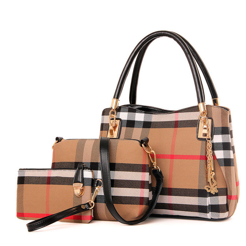 2017 Luxury Handbags Women Bags Designer Handbags High Quality Plaid Canvas Shoulder Bags Women Bag Sac A Main Femme De Marque