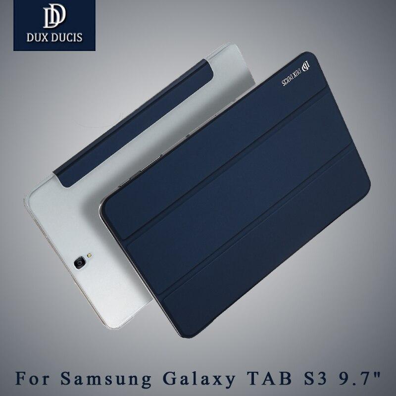 Pour Samsung Galaxy Tab S3 9.7 pouces Cas DUX DUCIS En Cuir Smart Flip Cover Stand Pour Samsung TAB S3 Cas Coque Pour GalaxyS3 cas