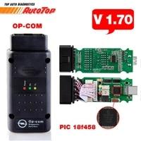 Newest OPCOM V1 70 Firmware With PIC 18F458 A Quality OP COM For Opel Car Diagnostic