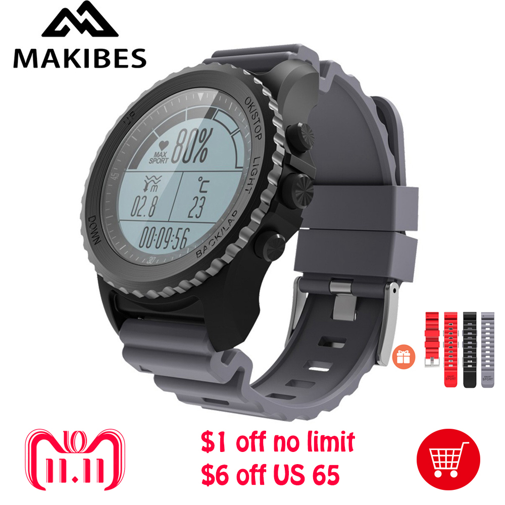 Original Makibes G07 IP68 Water resistent GPS Smart Sport Watch Bluetooth Health Tracker Smart Watch Dynamic Heart Rate monitor makibes br2 smart watch men gps smartwatches electronic compass heart rate monitor multi sport dynamic optical sports watch